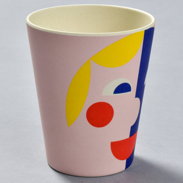 Bamboo Face Cup Yellow & Blue