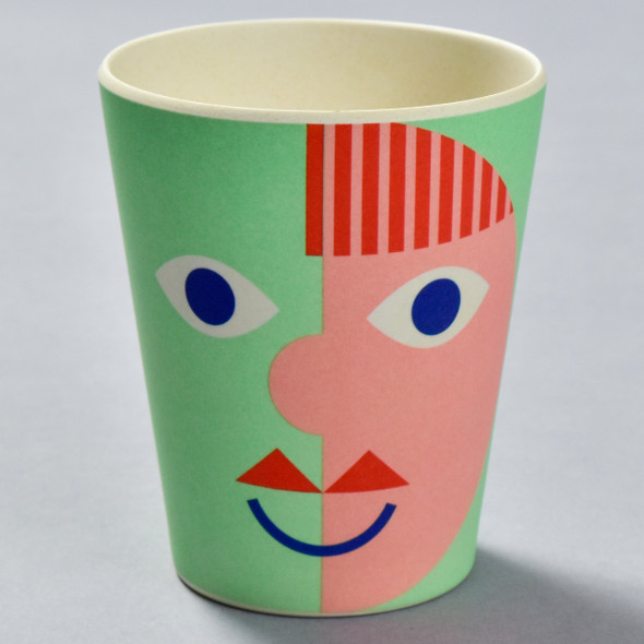 Bamboo Face Cup Green