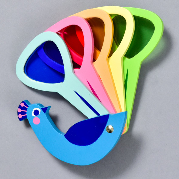 Peacock Colours wooden toy