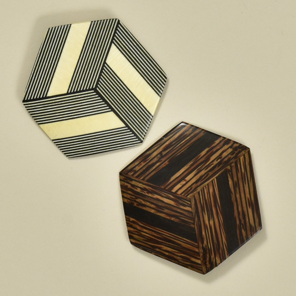 Hexagonal Rare Wood Pins