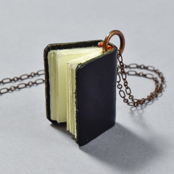 Book Necklace, black