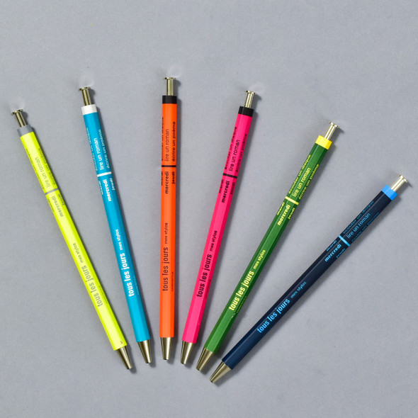 Marks Tous Les Jours Ballpoint Pens, olive, turquoise, navy, orange, pink, yellow