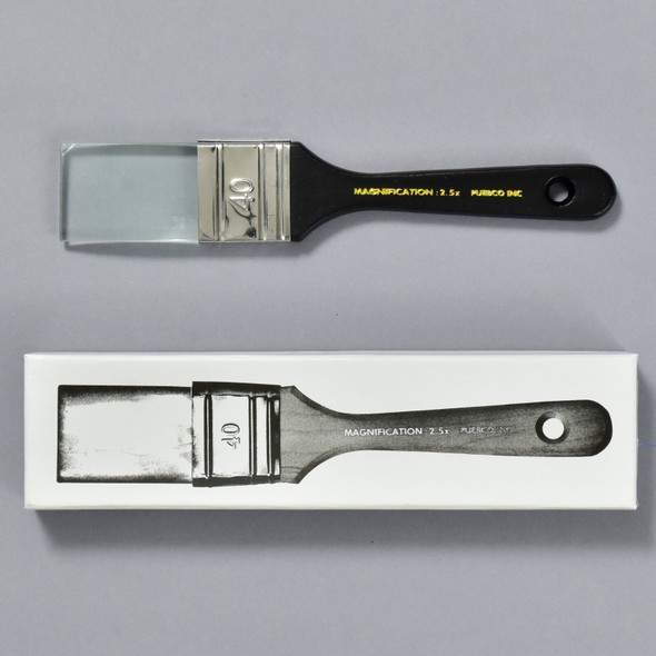 Paintbrush Magnifying Glass Black , box and magnifier