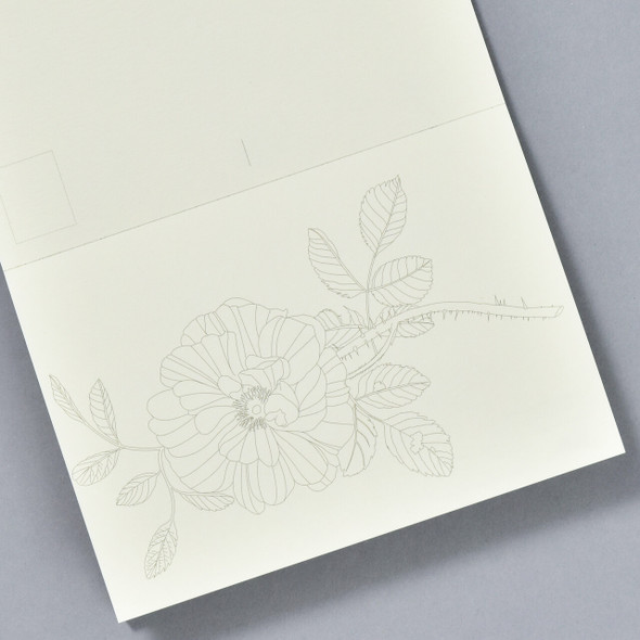 Floral Still Life Postcard Coloring Book, page in book