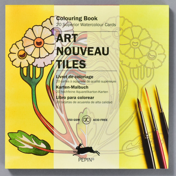 Art Nouveau Tiles Coloring Book, front of book