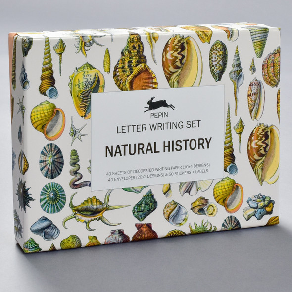 Natural History Letter Writing Set, front of box