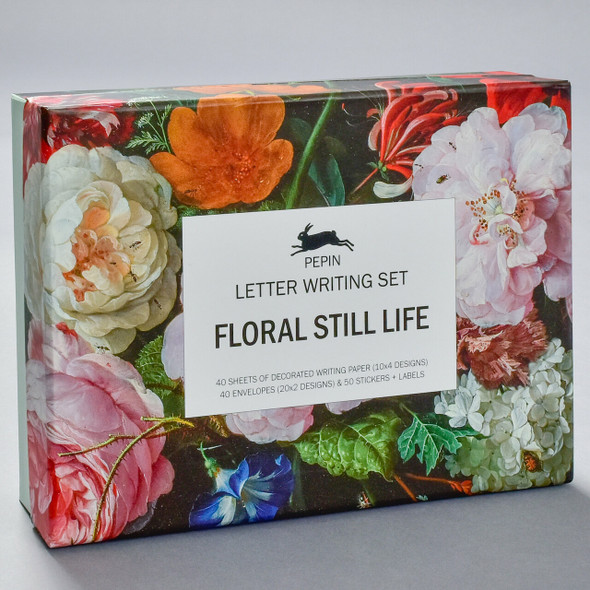 Floral Still Life Letter Writing Set, front of box