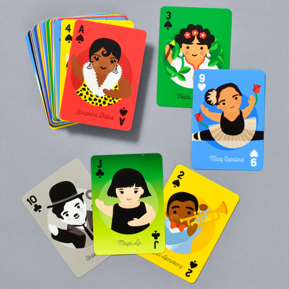 Little Artists Playing Cards