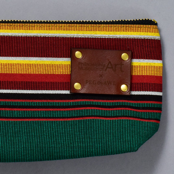 Peg and Awl x PMA Pencil Pouch, close up of label