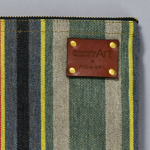 Peg and Awl x PMA Maker Pouch, close up of label