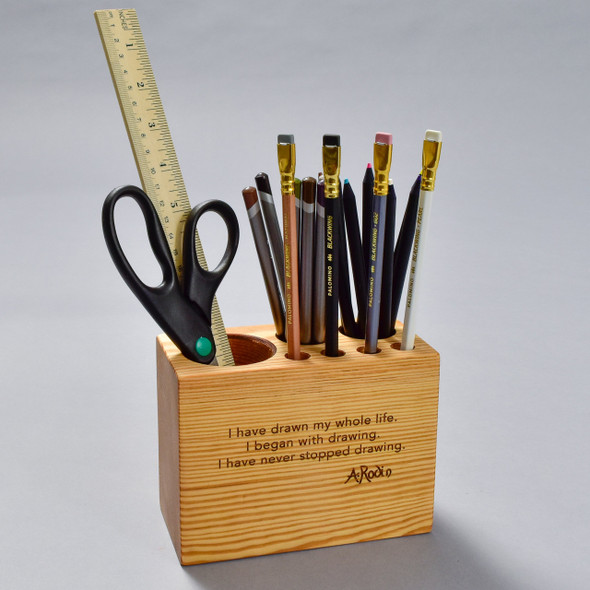 Rodin Quote Desk Caddy by Peg and Awl