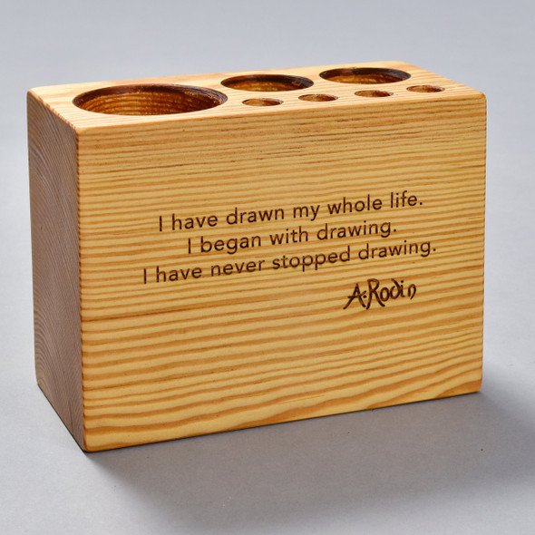 Rodin Quote Desk Caddy by Peg & Awl