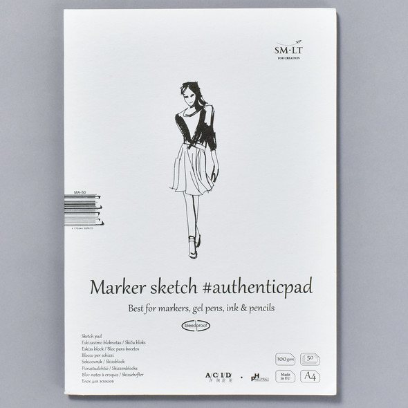 SMLT Authentic Sketch Pad for Markers in Folder, front