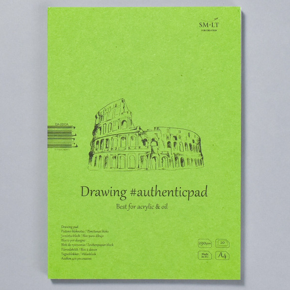 SMLT Authentic Drawing Pad for Oil and Acrylic in Folder, front