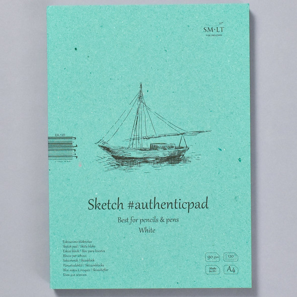 SMLT Authentic Sketch Pad White in Folder