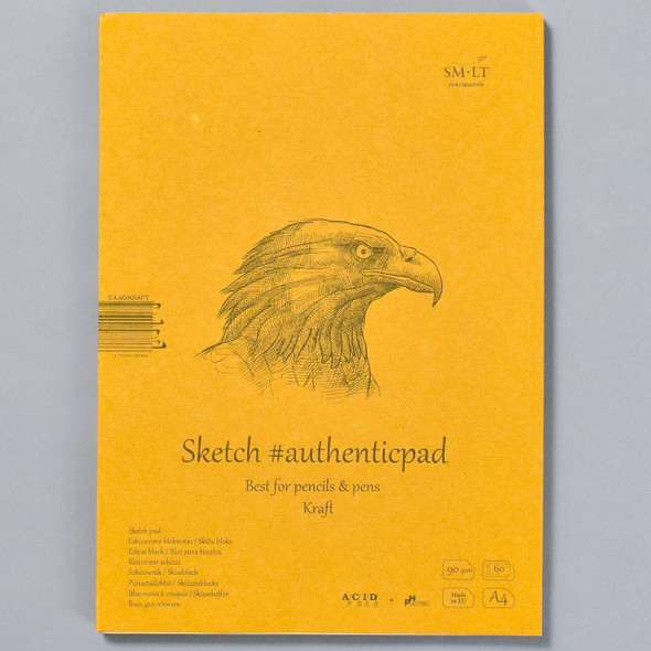 SMLT Authentic Sketch Pad Kraft in Folder