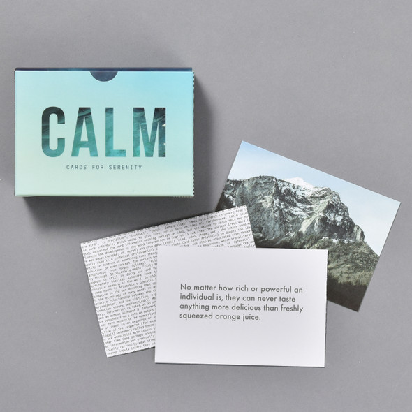 Calm Pocket Prompt Cards, front with some cards