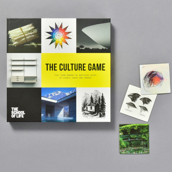 Culture A Memory Game, front of box with pieces