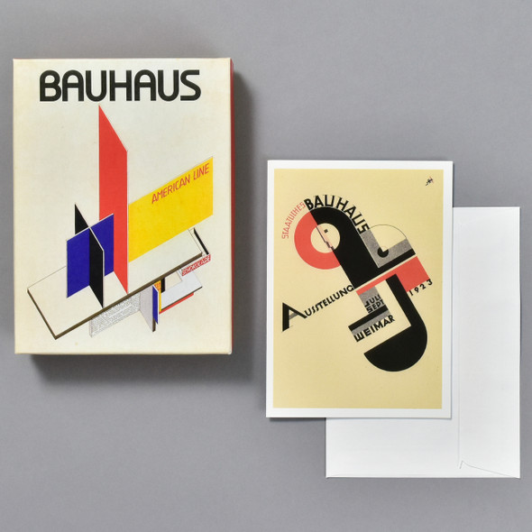 Bauhaus Notecard Set, box with card and envelope