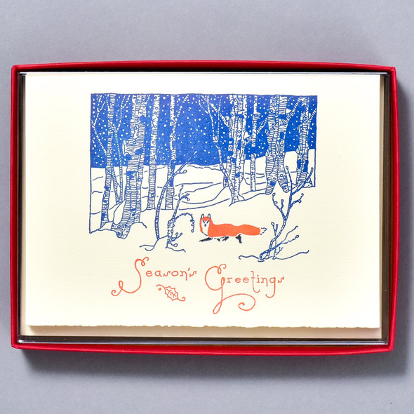Snow Fox Season's Greetings Holiday Boxed Set
