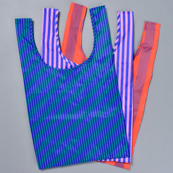 3 Piece Striped Shopper Set, 3 bags