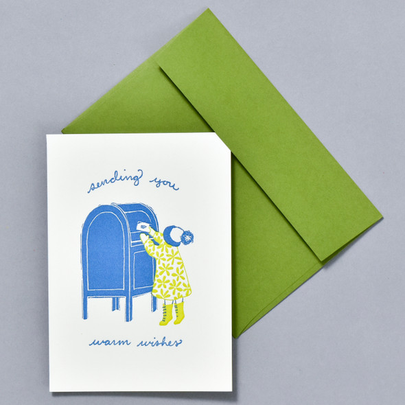Little Letter Writer Holiday Notecard Set, card and envelope