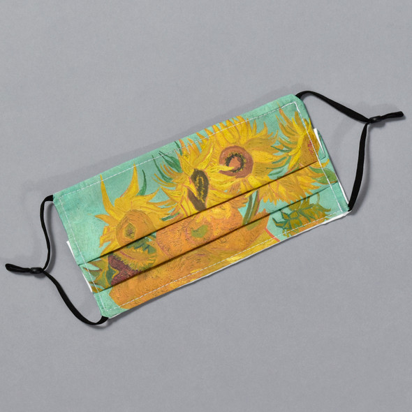 van Gogh: Sunflowers Kids Face Mask by Ana Thorne