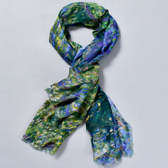 Monet Bend in the Epte River Scarf