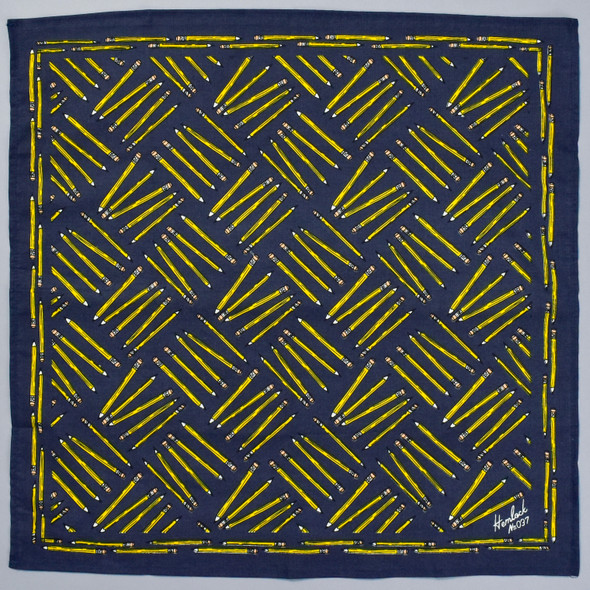 Yellow Pencil Navy Bandana