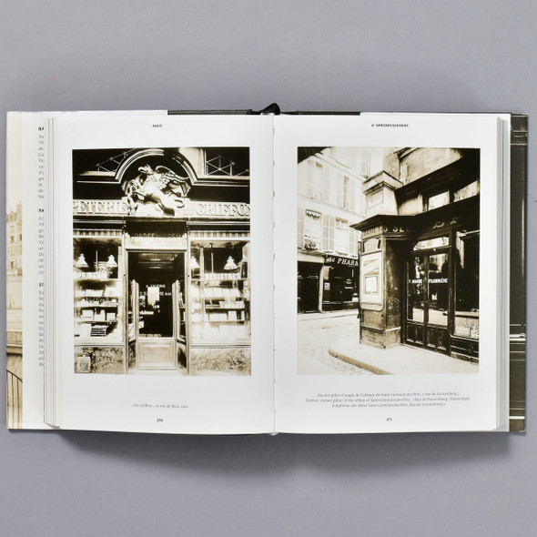 Eugene Atget: Paris, inside pages of book