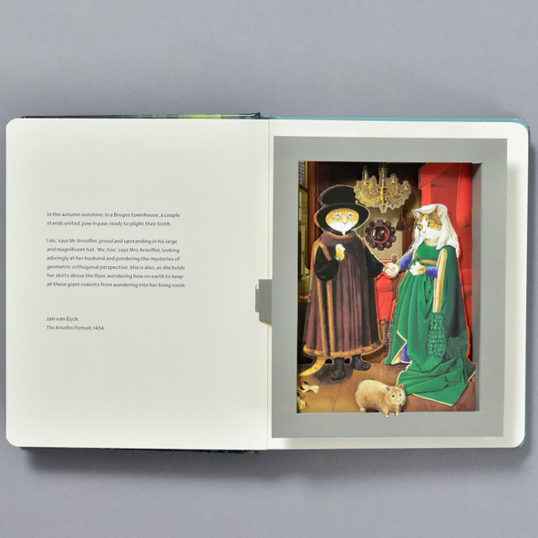 Pages from Cats in Art: A Pop-up Book