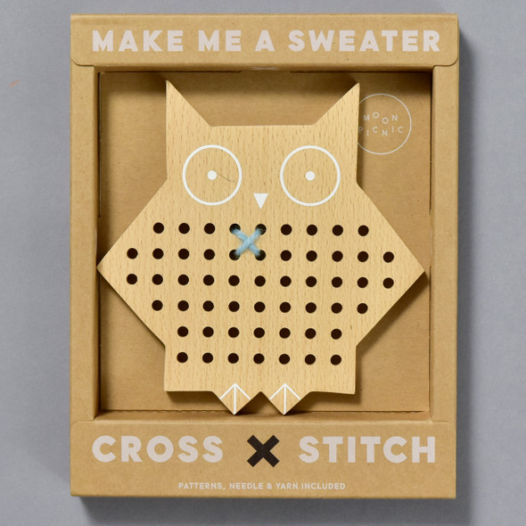 Owl Cross Stitch Friends by Moon Picnic in packaging
