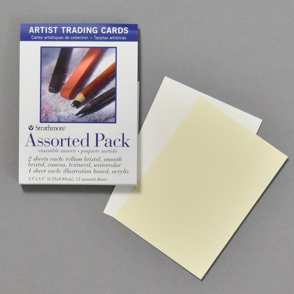 Strathmore Artist Trading Cards Assorted Pack, blank cards and packaging