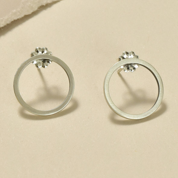Sterling Silver Mini Circle Earrings