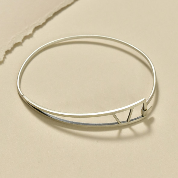 Sterling Silver Tri-Shape Bangle