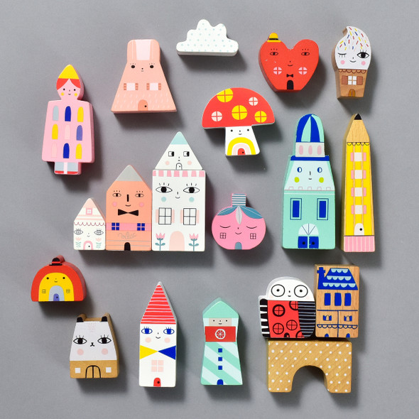 Tiny City by Suzy Ultman, pieces