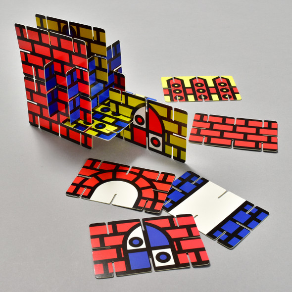 Build a Castle, some of the contents - slot-together cards