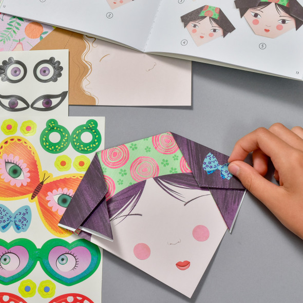 Pretty Faces Origami, with hand