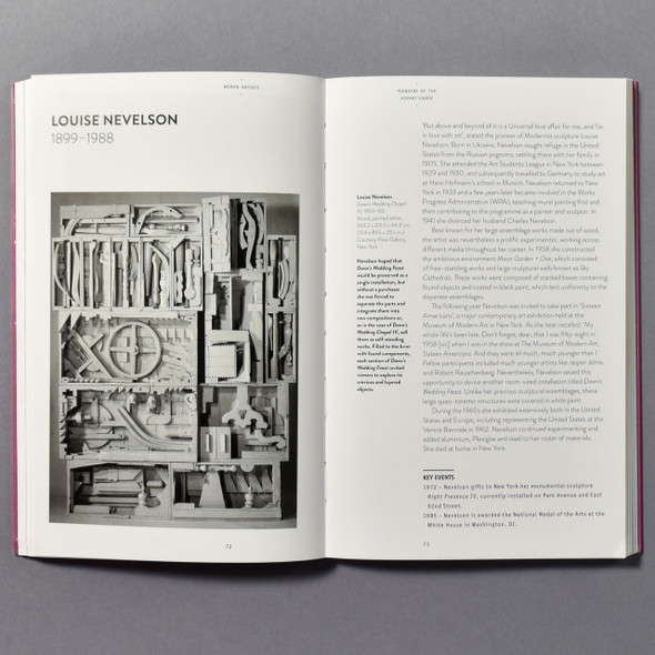 "Interior of the book ""Women Artists"" by Flavia Frigeri"