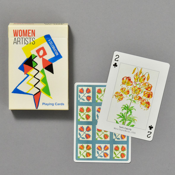 Women Artists Playing Cards, box and some cards