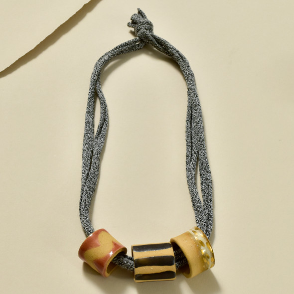 Three Bead Necklace by Curious Clay