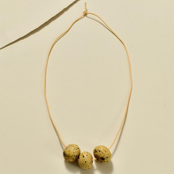 Triple Round Bead Necklace by Curious Clay