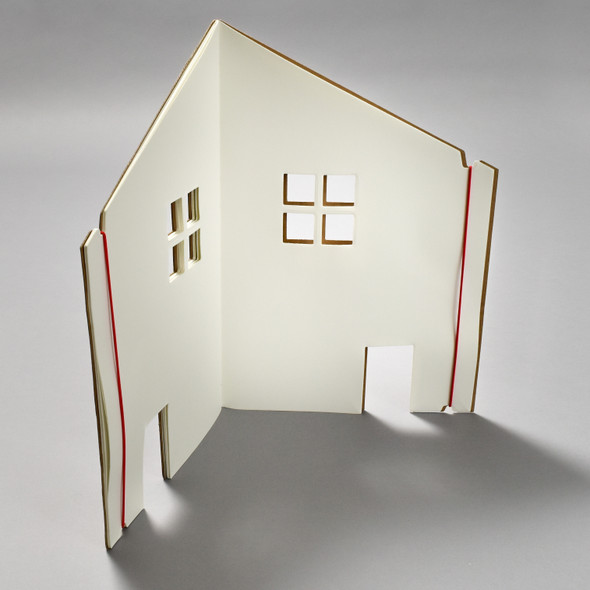 The Dollhouse Book, open and standing