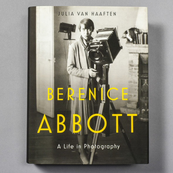 """Cover of the book """"Berenice Abbott: A Life In Photography"""" by Julia Van Haaften"""