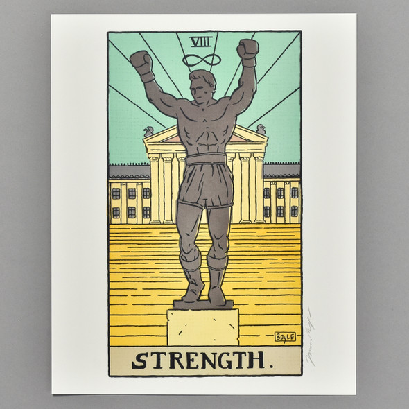 "Strength Philly Tarot Deck Print 8"" x 10"" by James Boyle"