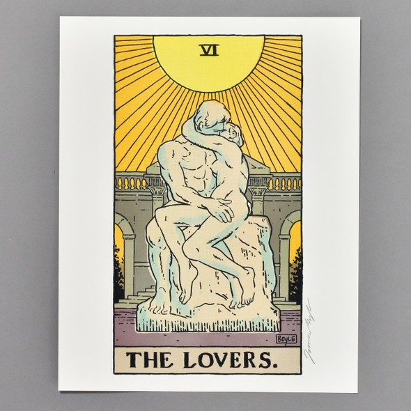 "The Lovers: Auguste Rodin's The Kiss Philly Tarot Deck Print 8"" x 10"" by James Boyle"