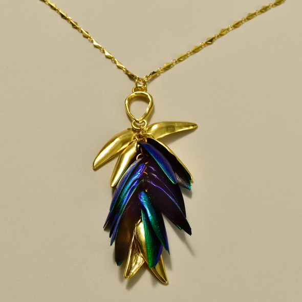 Beetle Wings Necklace, pendant