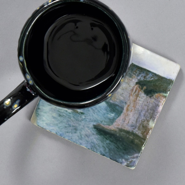 Monet: Manne-Porte, Etretat Tile, with mug