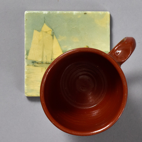 Homer Clear Sailing Tile by The Painted Lily, with mug