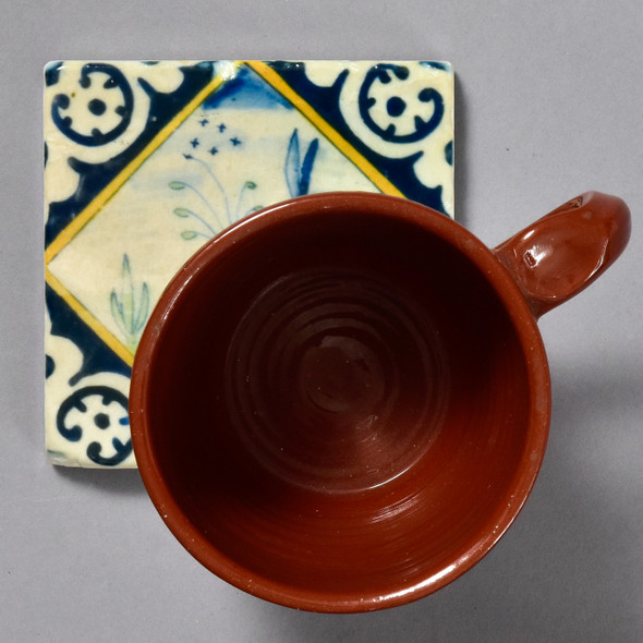 Dutch Hare in Diamond Tile by The Painted Lily, with mug